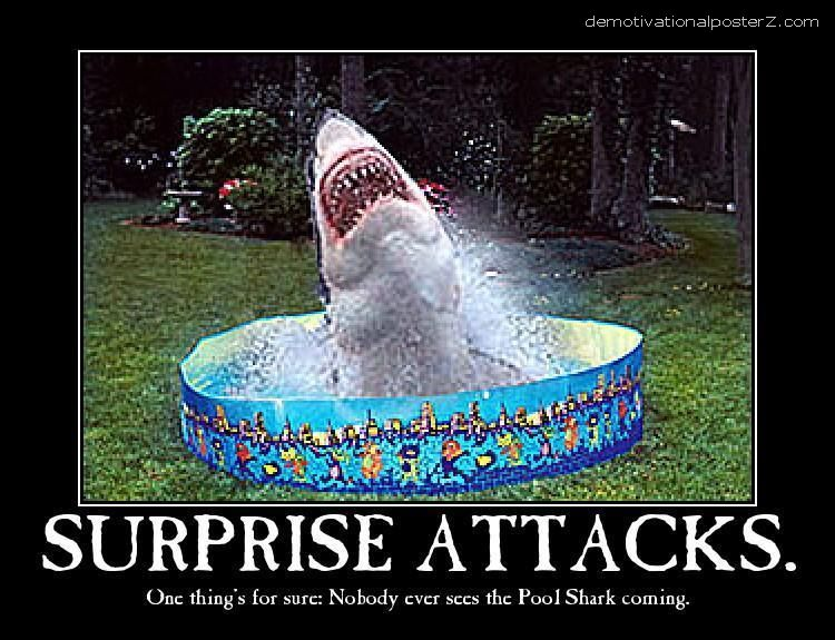 Pool Shark - Surprise Attacks motivational poster