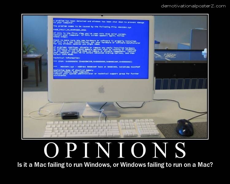 opinions mac windows demotivational poster