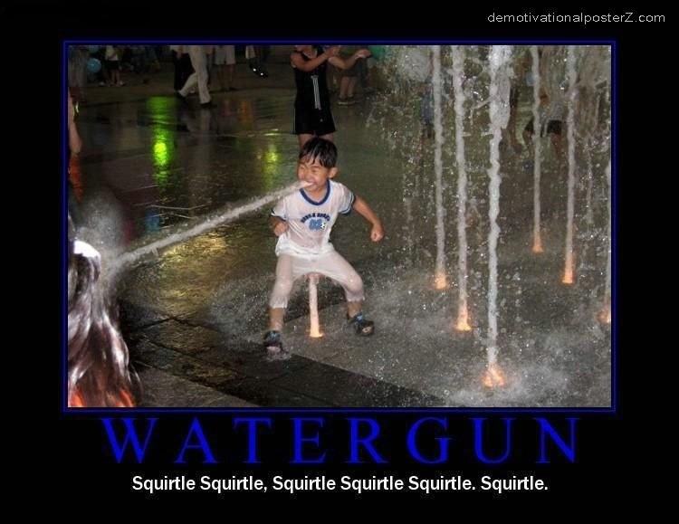 WATERGUN - squirtle, squirtle, squirtle