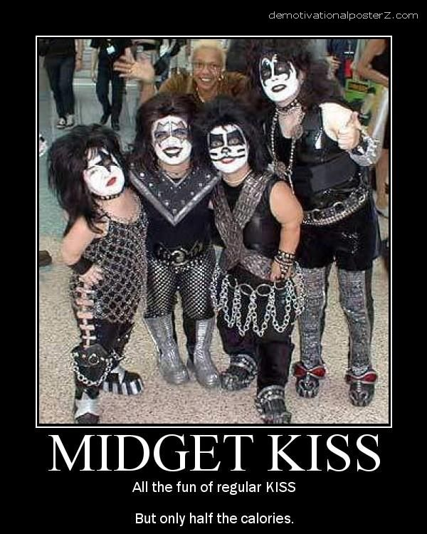 midget kiss motivational