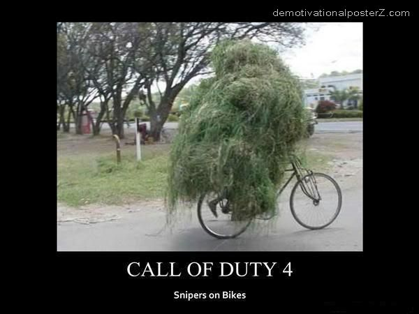 CALL OF DUTY 4 - snipers on bikes motivational poster