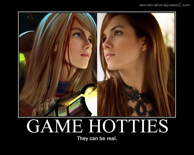 GAME HOTTIES - they can be real poster