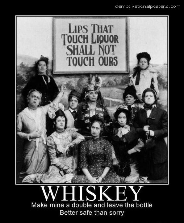WHISKEY, make mine a double and leave the bottle
