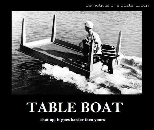 table boat