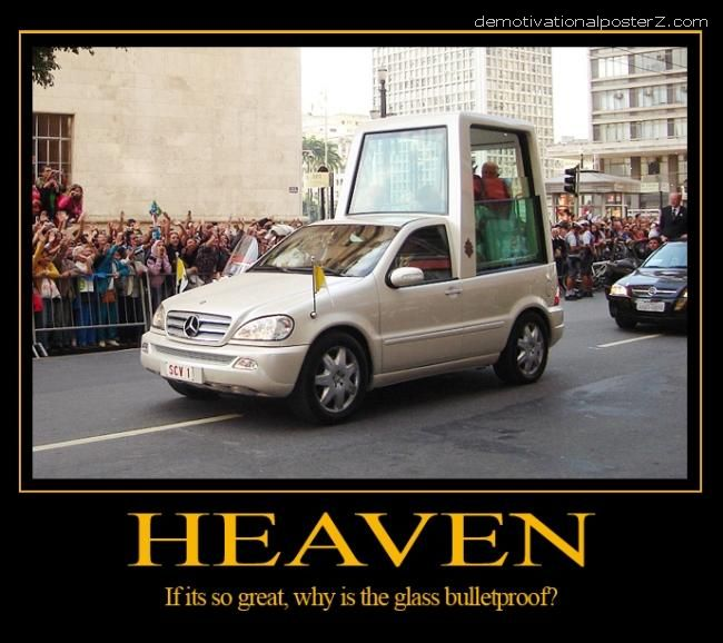 pope mobile motivational poster