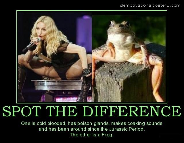 madonna frog difference