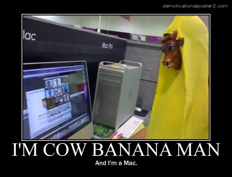 cow banana man