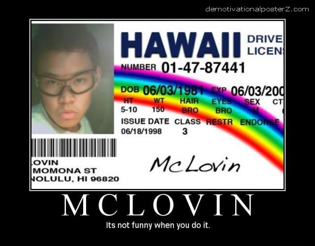 funny name on drivers licence