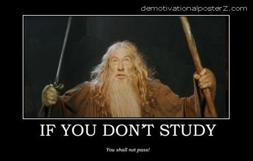 IF YOU DON'T STUDY - YOU SHALL NOT PASS