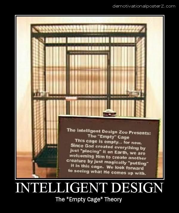 intelligent design empty cage theory
