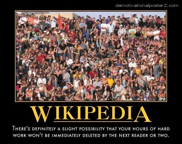 wikipedia motivational poster