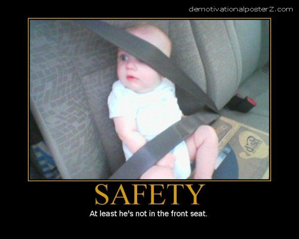 BABY WEARING SEAT BELT SAFETY