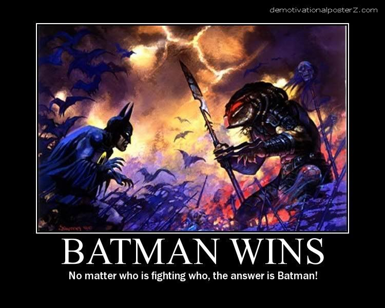 batman wins always - predator