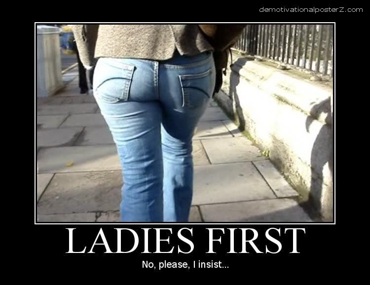 ladies first motivational poster