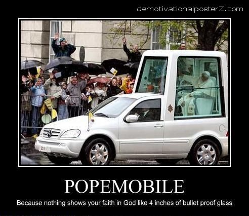 popemobile motivational poster demotivator