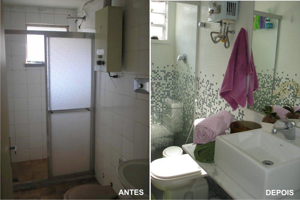 ARQUITETA MARIA HELENA TORRES REFORMA DE BANHEIRO 7 -> Reformar Banheiro Pequeno Gastando Pouco