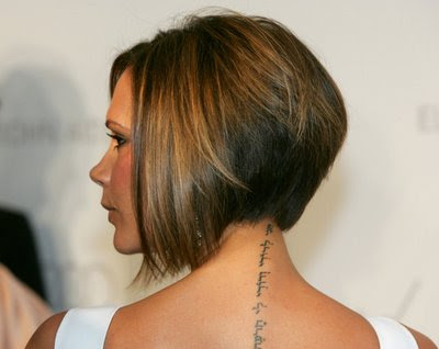 victoria beckham tattoo on neck. Victoria beckham back tattoo