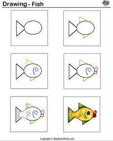 понятно как рисовать золотую рыбку.
