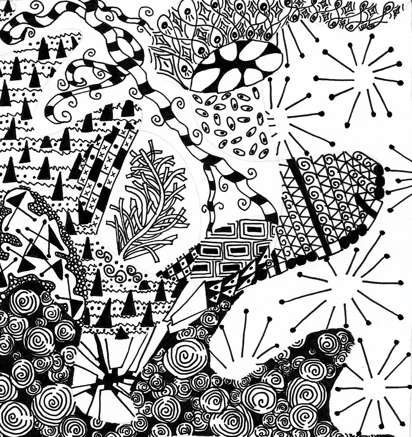 Zentangles Patterns For Kids