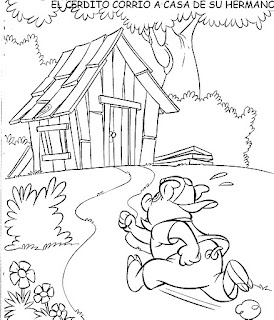 Primero pasito a paso los tres cerditos for Costruendo su a casa mia
