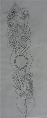 sketch of lovespoon design