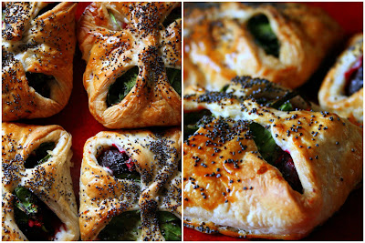 ... in the kitchen: Beetroot, spinach & goats' cheese puff pastry par...