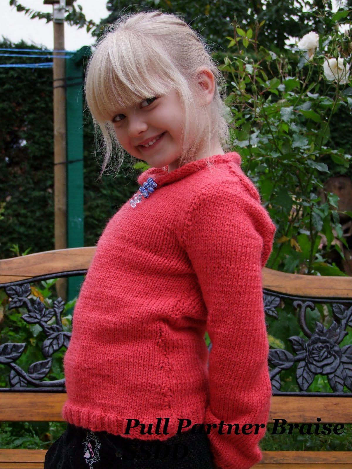 tricoter un pull fille 8 ans