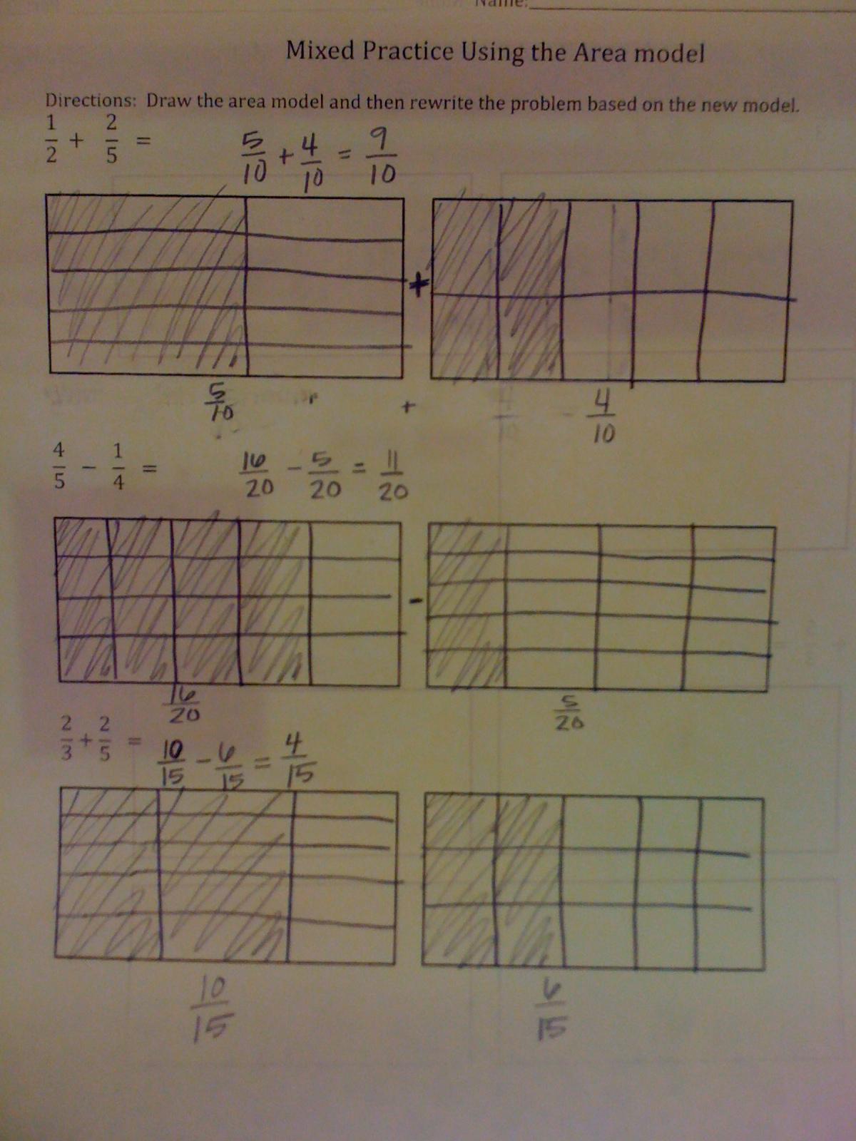 adding fractions using area models worksheets decimal worksheetsfraction worksheetsadding. Black Bedroom Furniture Sets. Home Design Ideas