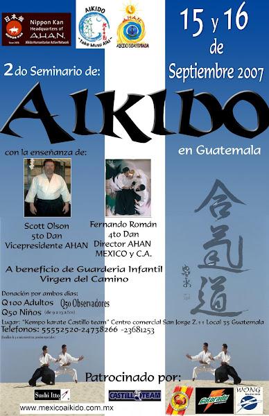 Afiche 2do. Seminario Aikido  AHAN Guatemala