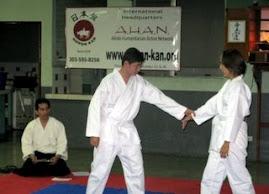 En el 1er. Dojo de AHAN Guatemala  durante el Examen, año 2007