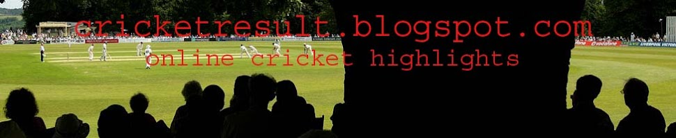 CRICKET HIGHLIGHTS|RESULT VIDEO