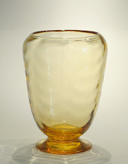 Smaller footed waved vase pat. 9358