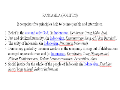 Pancasila dalam bahasa inggris