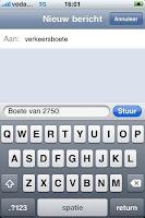 bekeuring sms