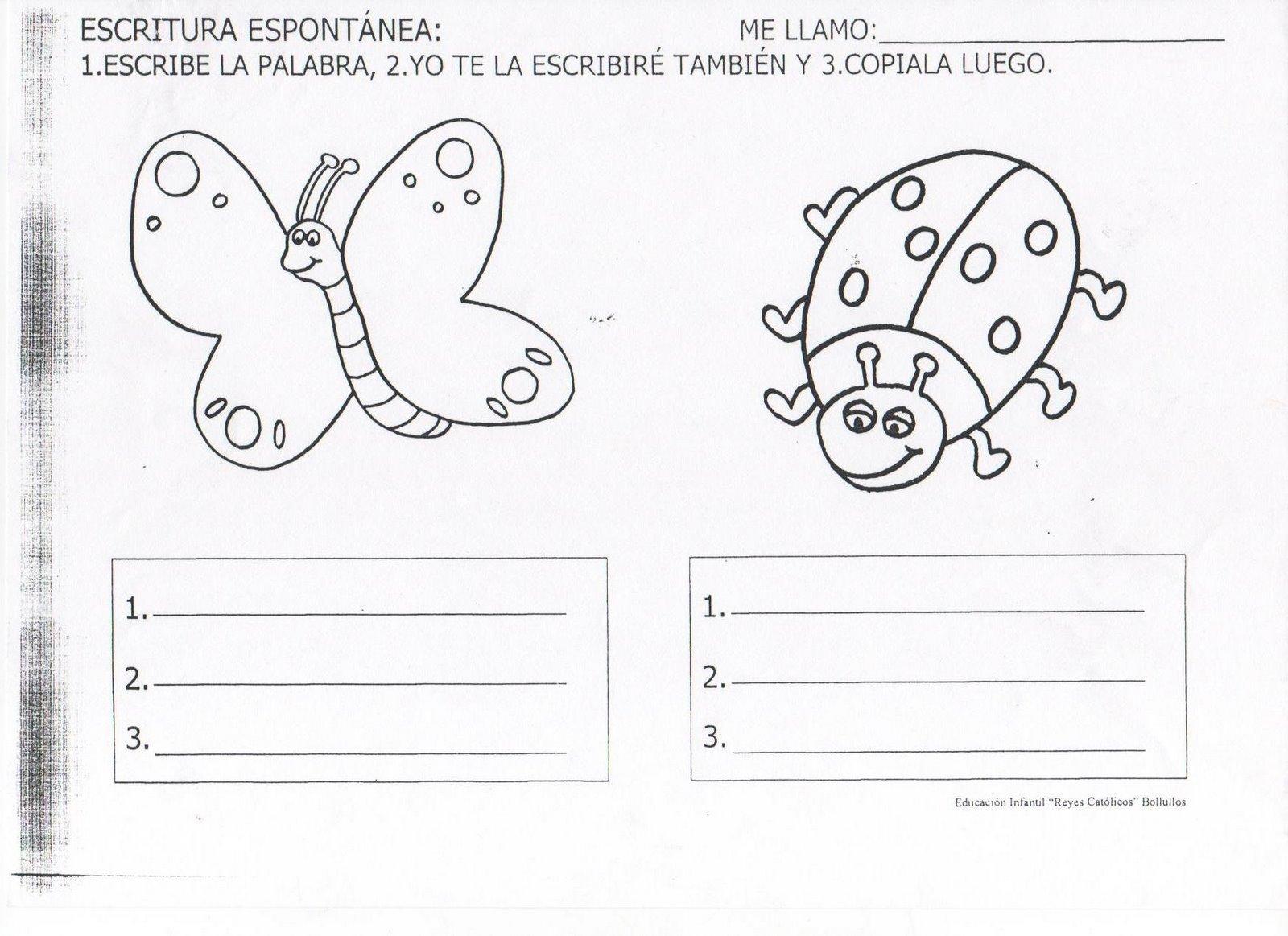 Piruleta colorines: FICHAS LECTOESCRITURA