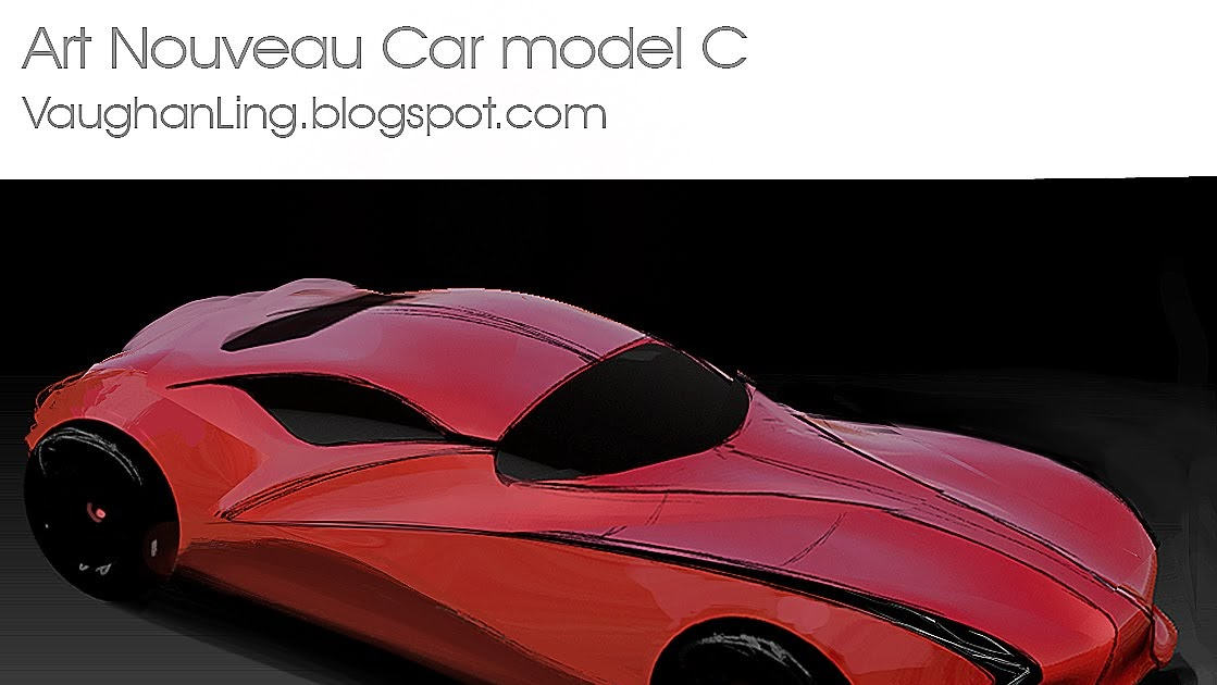 V Ling: Art Nouveau car model c