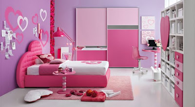Colorful interior bedroom kids
