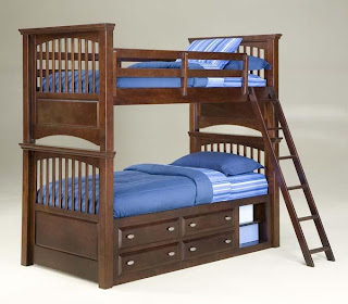 Classic kids bunk bed, a solution for large families with limited room