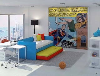 Krypton kids bedroom, image