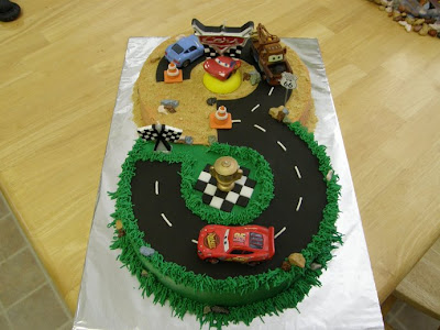 this cake was made for a 3 year old boy s birthday it is done in ...