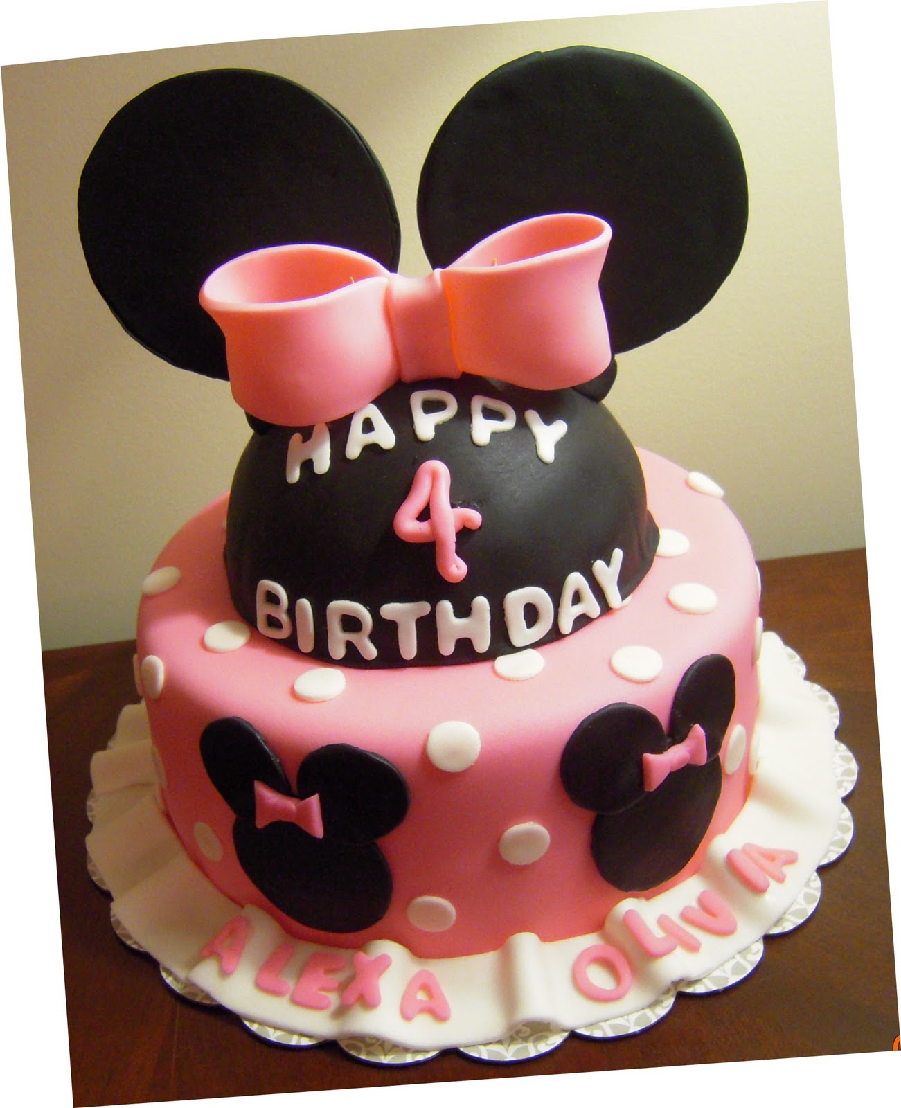 Icing Makes the Cake Minnie Mouse Cake for TWINS