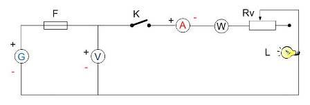 Circuito eléctrico com vários elementos