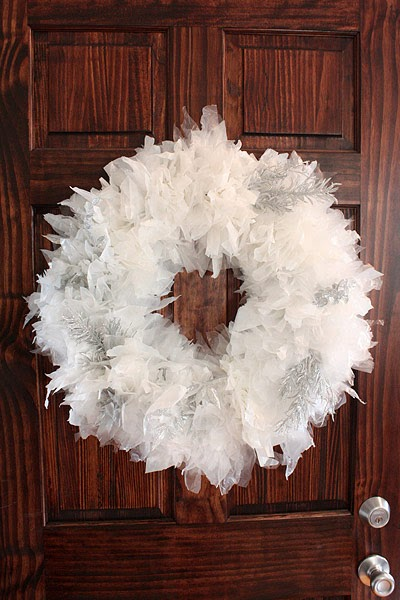 Jackie Sullivan Sketch Blog Recycled Plastic Bag Christmas Wreath