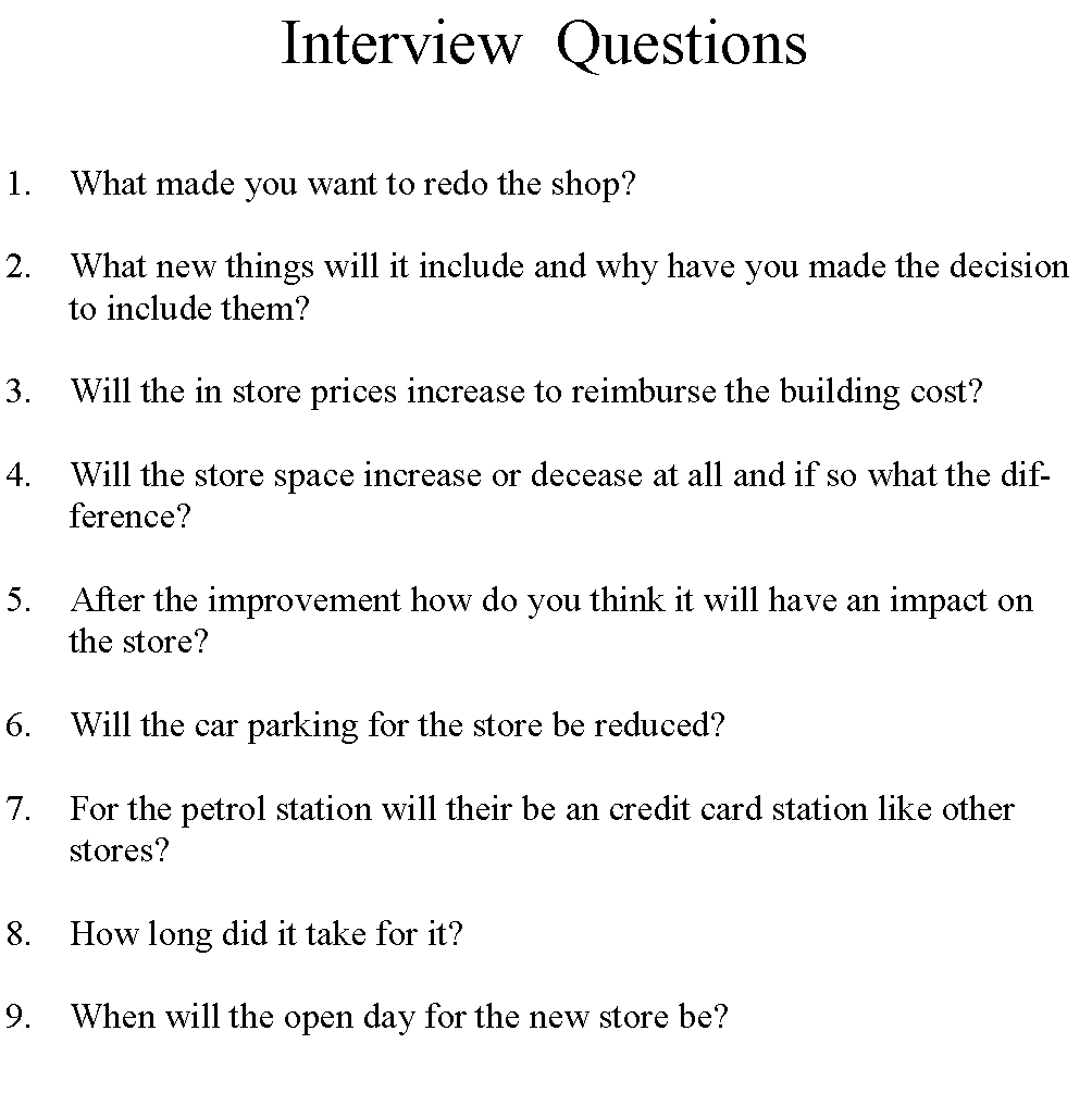 How to write a paper from an interview