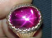 "[Kod: ZT79] Cincin ""Finest Hot Pinkish-Red Sapphire""; 6-Rays Star; from Ceylon; 12cts"