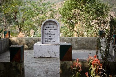 Man-eating leopard memorial, Rudraprayag, India