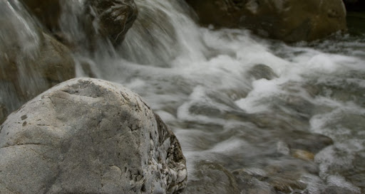 A small waterfall below Ngamoko hut