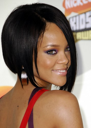 photos of short hair styles for women. Rihanna Short Layered Crop