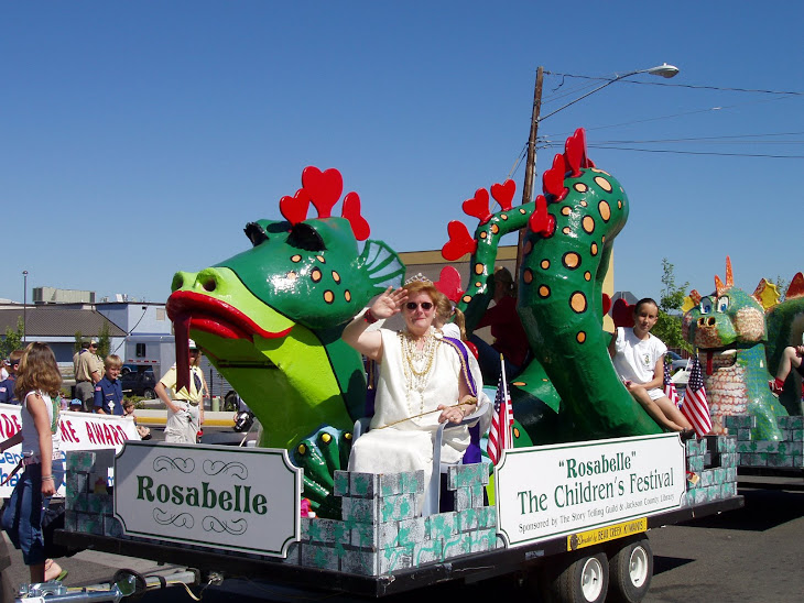 ROSABELLE THE DRAGON FOLLOWED BY PEBBLES THE DRAGON