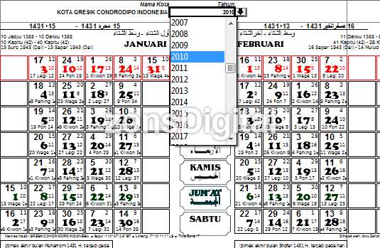 Download Kalender 2010 Super Lengkap